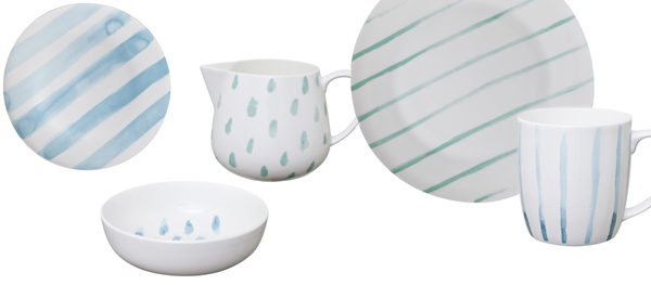 Freedom Drift dinnerware via the red thread