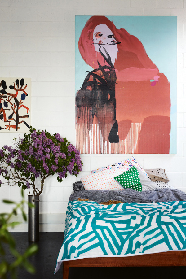 Kirra Jamison bedroom from Inside Out mag