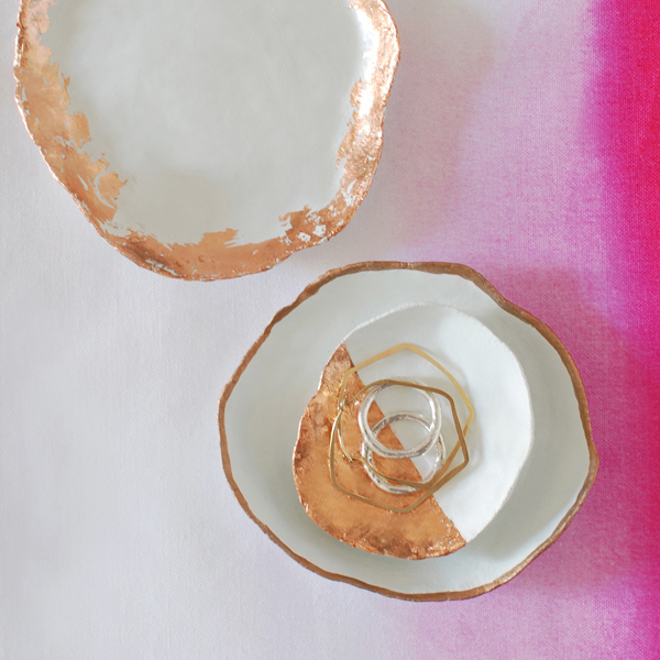 DIY jewellery dishes tutorial the red thread