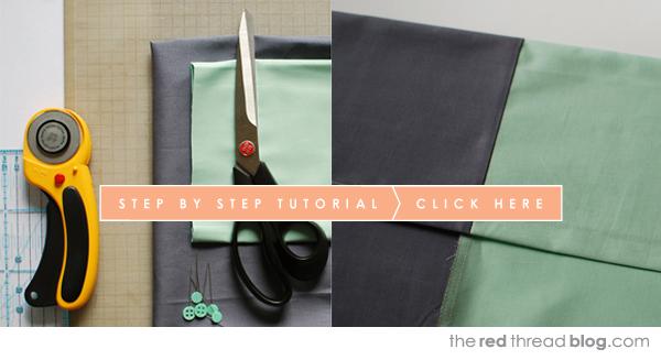 the red thread colour block pillowcase tutorial
