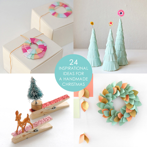 24 ideas for a handmade Christmas via the red thread