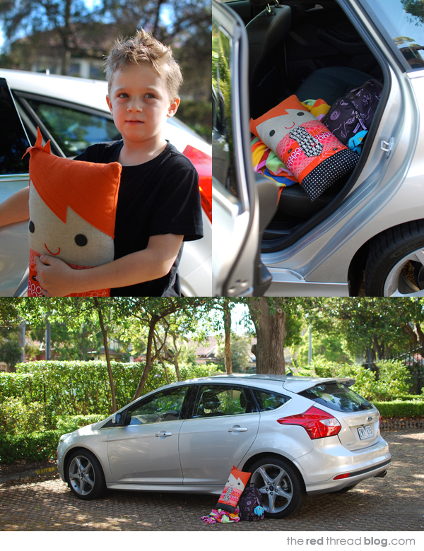 Make a car comfort pillow for your child