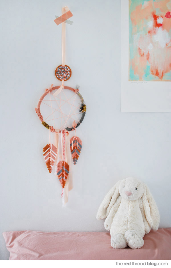 dream catcher tutorial by the red thread