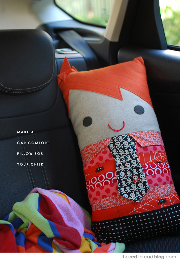 sew a car comfort pillow tutorial - the red thread