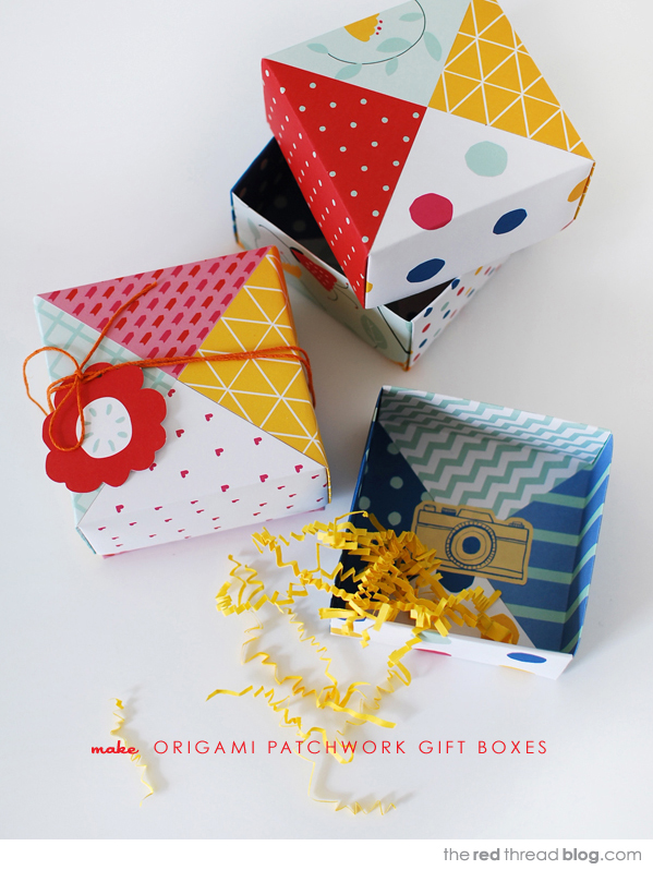 how to make origami gift boxes - the red thread tutorial