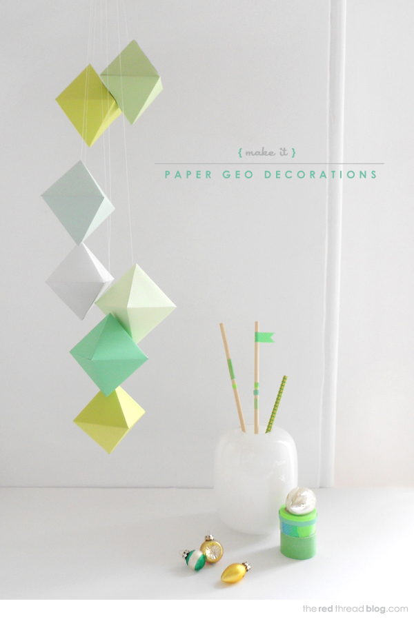 the red thread paper geo decorations