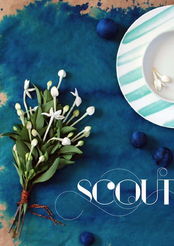 SCOUT magazine cover by Lisa Tilse - the red thread