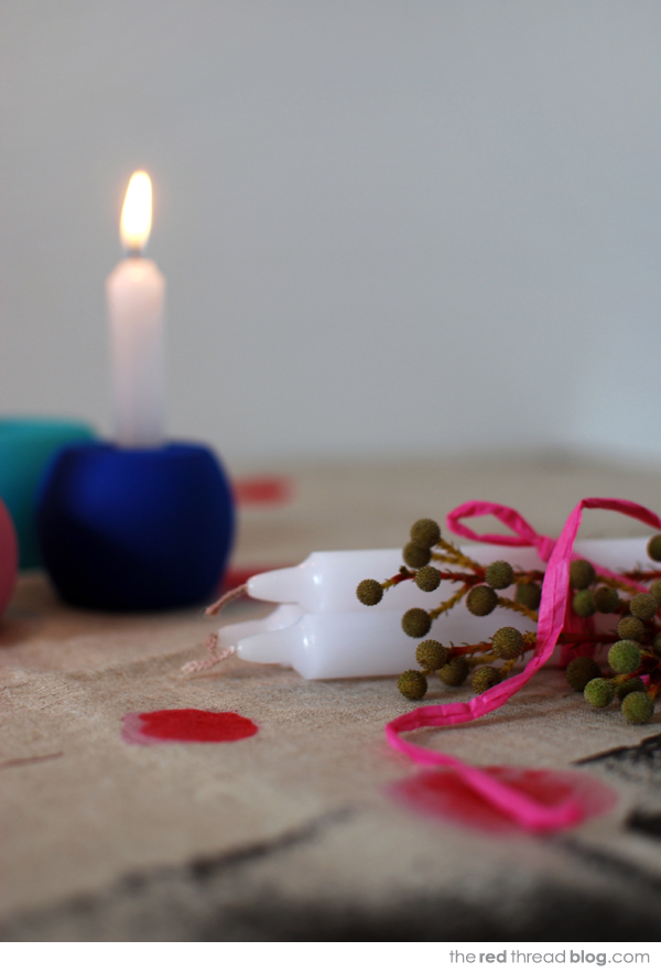 candle holder tutorial - the red thread