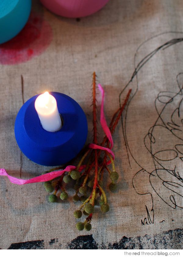 easy candle holder tutorial - the red thread