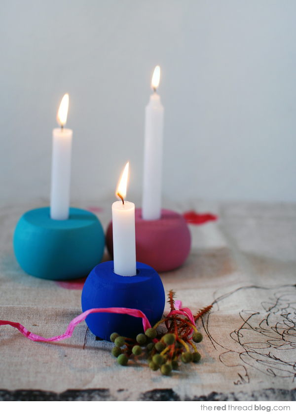 easy candle holders tutorial - the red thread