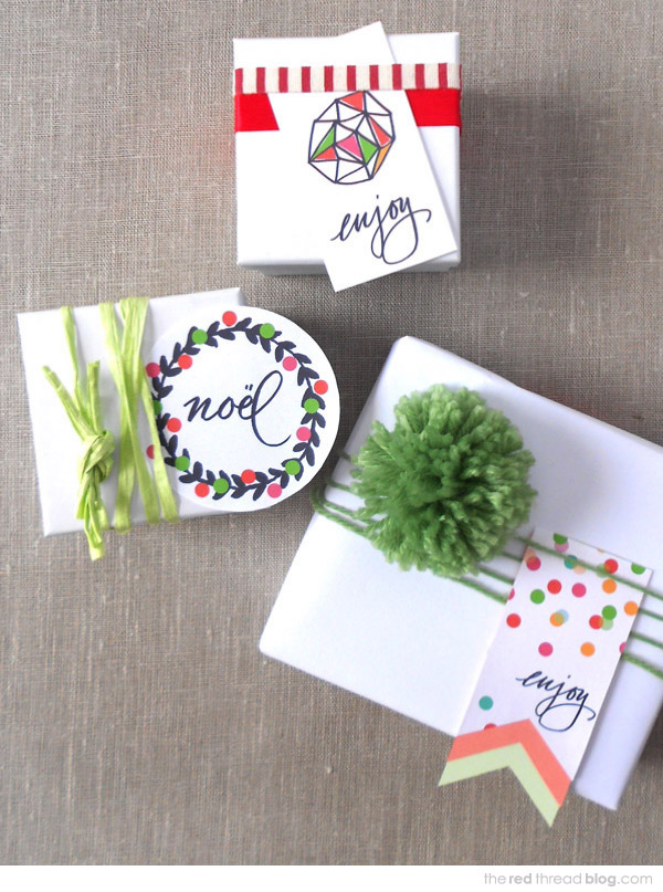 the red thread free printable gift tags