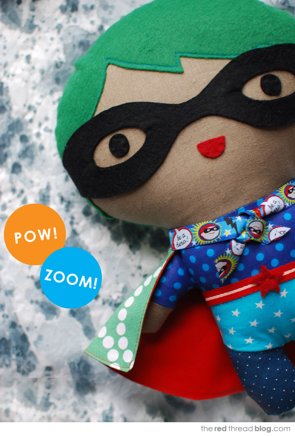 girl super hero softie via the red thread
