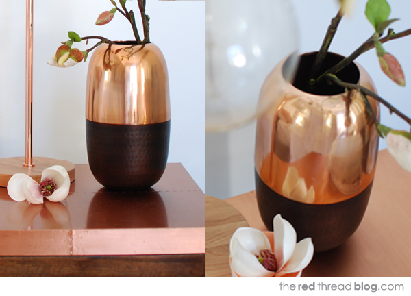 Freedom copper vase via the red thread
