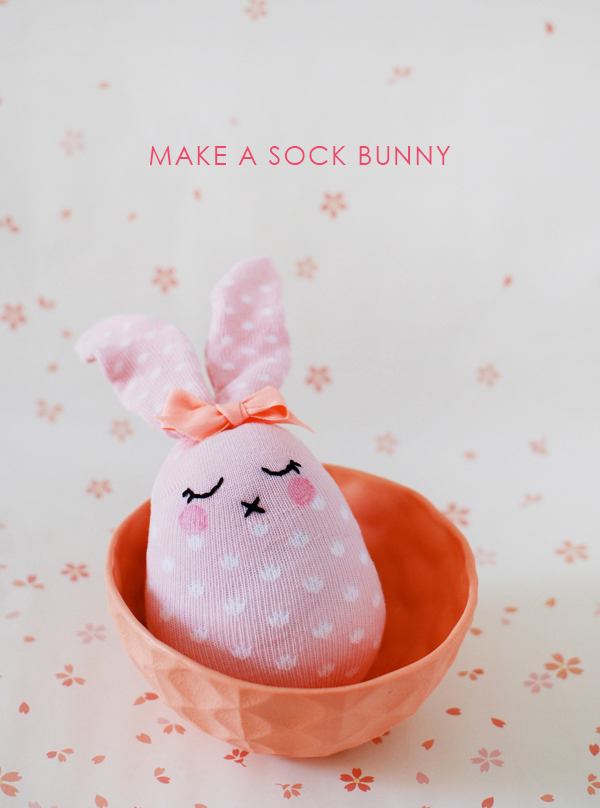 How to make a sock bunny. So cute!
