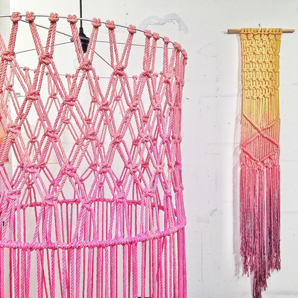 natalie miller macrame light via the red thread