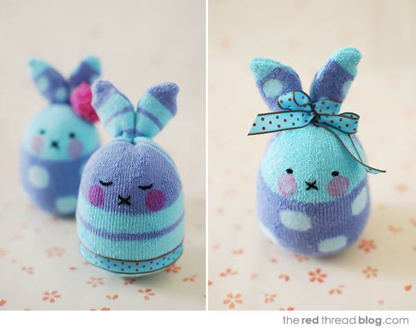 the red thread sock bunnies tutorial
