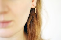 Make: Hoop Earrings in Geo Shapes