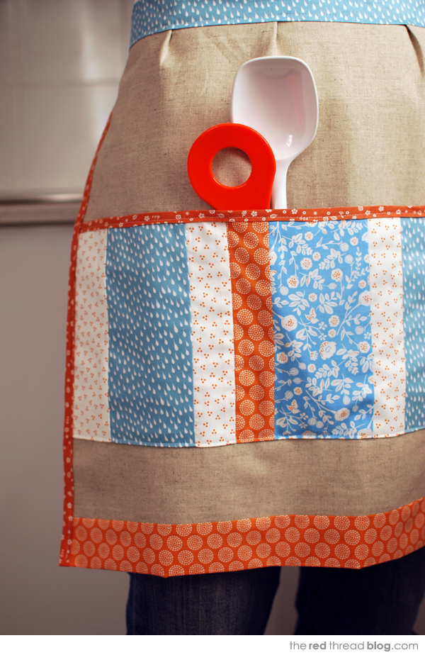 make a linen apron free sewing pattern | the red thread blog