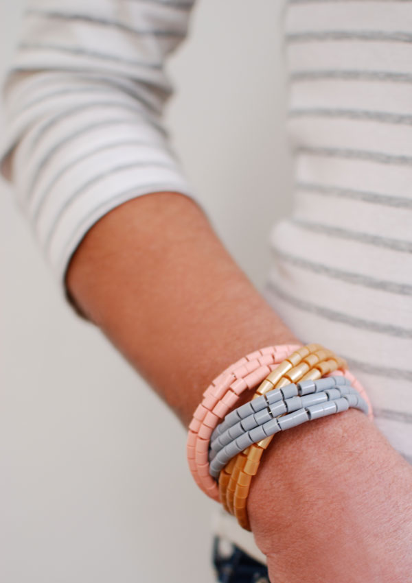 Wearing-Hama-Bead-cuff