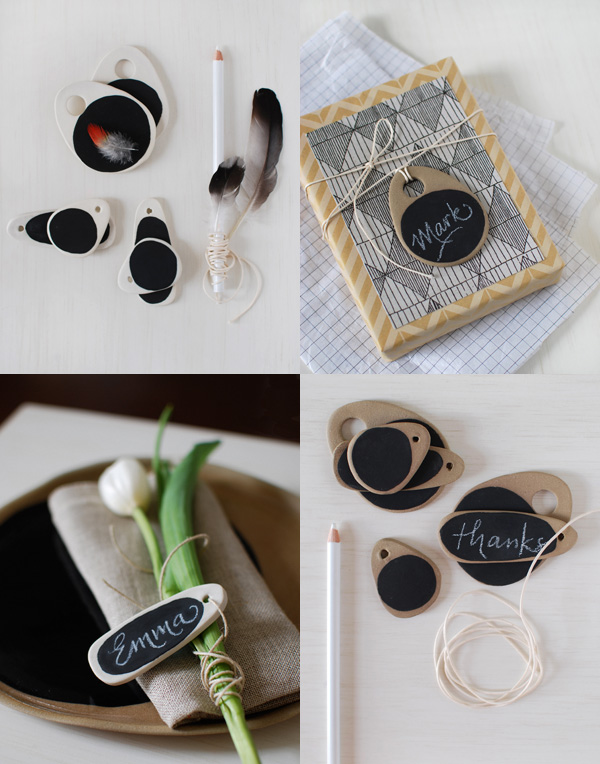 Kim Wallace Chalkboard Tags via the red thread