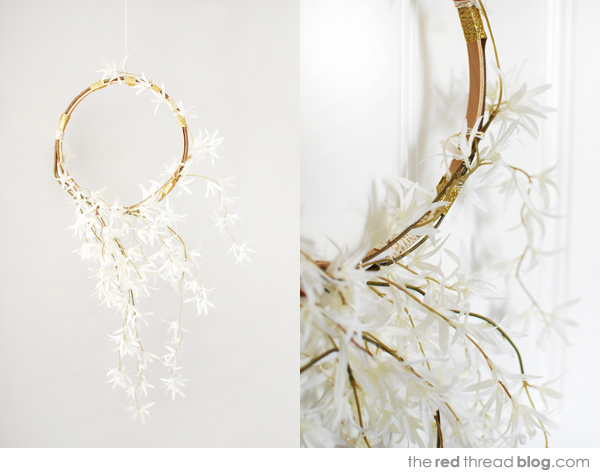 Make a Christmas wreath - the red thread blog. Styling and photography: Lisa Tilse