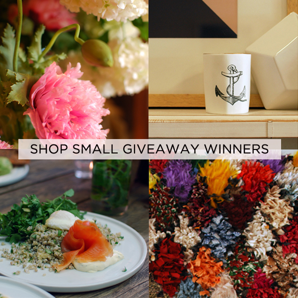 Shop Small Giveaway Winners