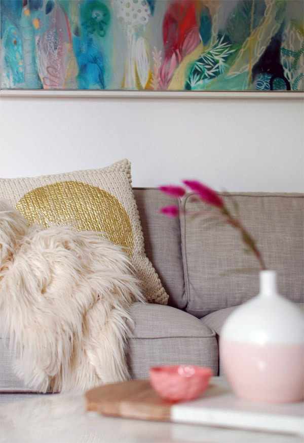 Winter living room makeover with Freedom via we-are-scout.com
