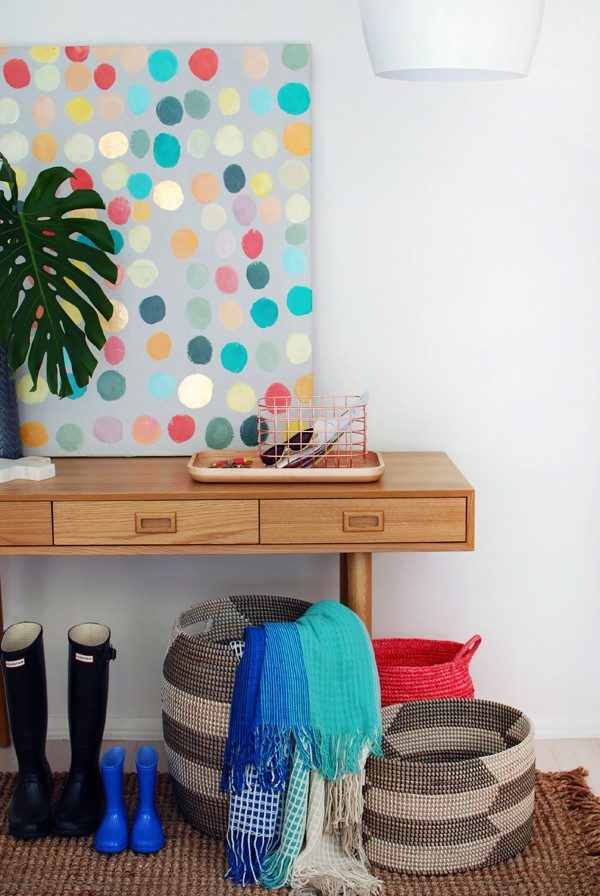 Amazing entry hall makeover, with handy get-organised tips, by we-are-scout.com.