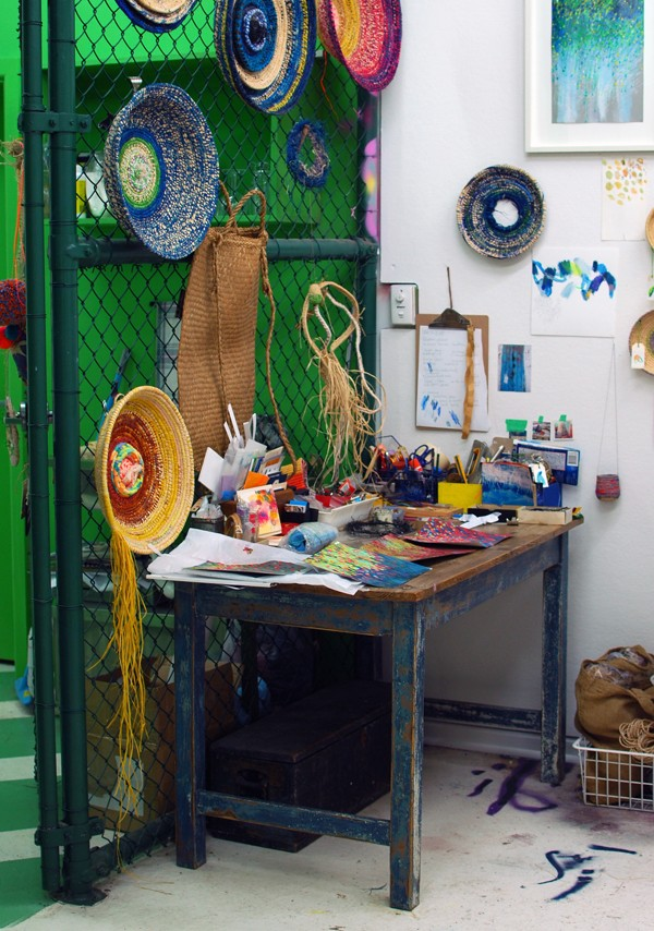 Michelle Morcos of Tiny Trappings. Studio tour via We Are Scout