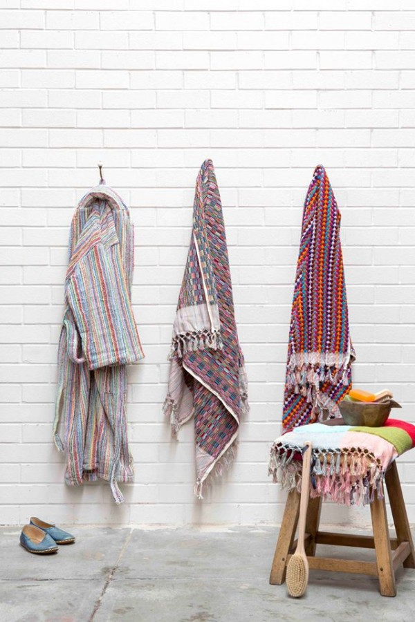 Handwoven Ottoman Haman towels, via We-Are-Scout.com.