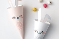 Free Printables: Easter Bunny Treat Cones