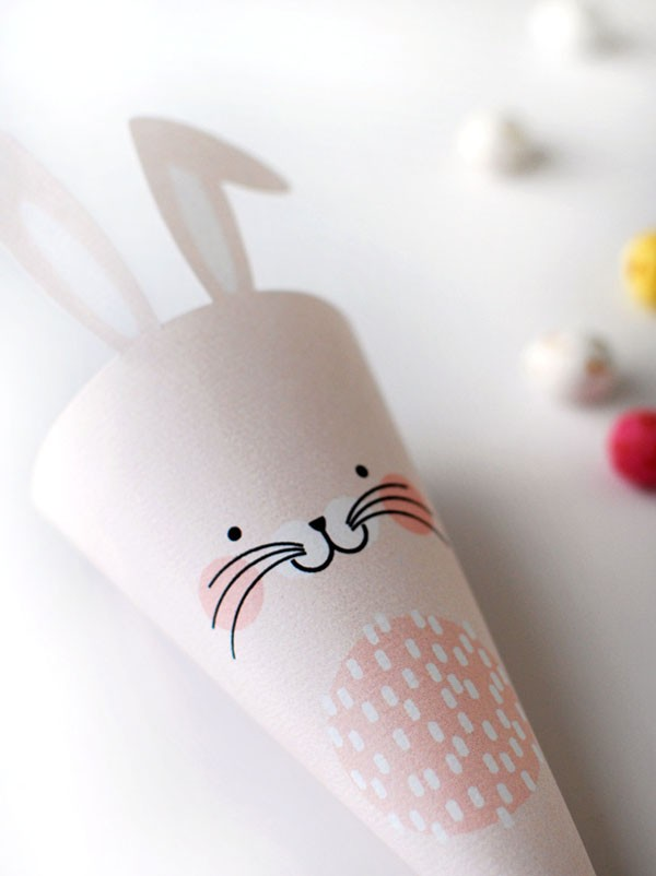 We Are Scout FREE Easter Bunny Treat Cones Printables, via we-are-scout.com.