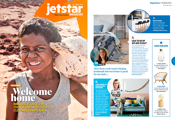 Jetstar inflight magazine - Pro interior design trend tips
