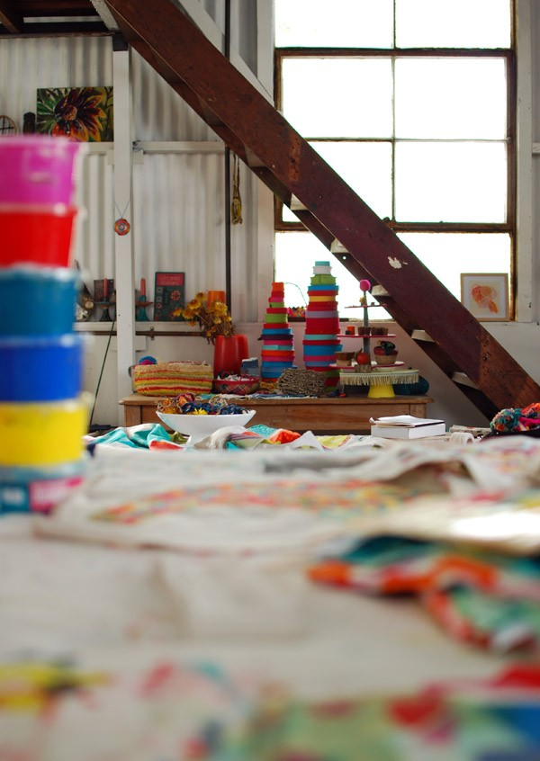 Studio tour Prints Charming Fabrics via We Are Scout. Photo: Lisa Tilse for we-are-scout.com