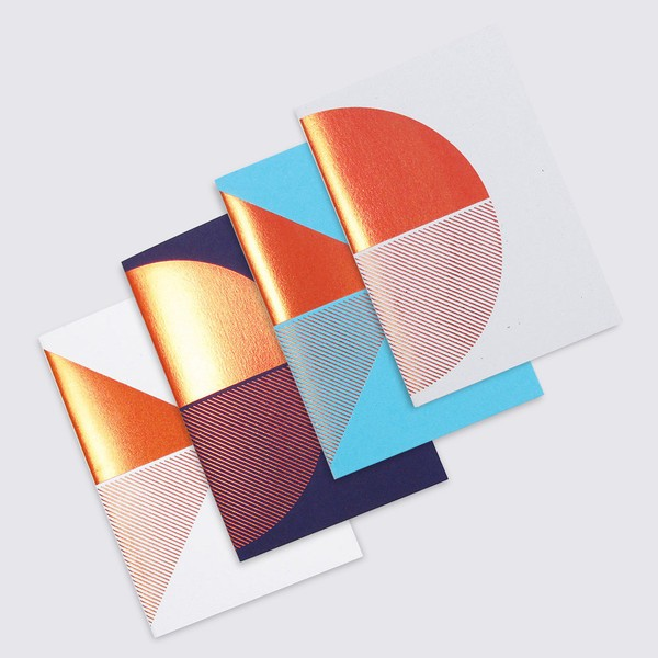 Metalic copper foil notebooks by Tom Pigeon, via we-are-scout.com.