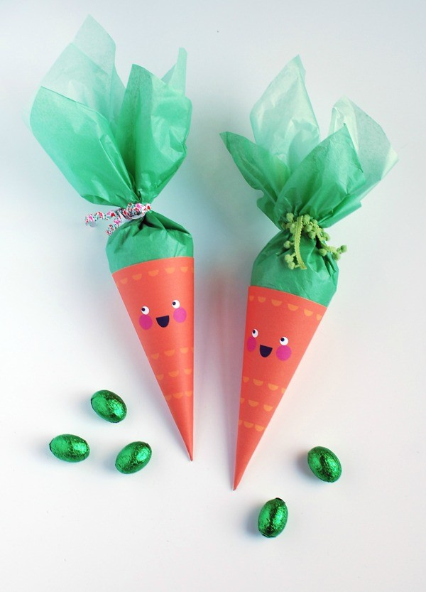 You can make our Easter carrot treat cones, too!