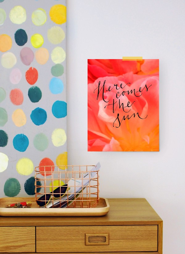 Here Comes The Sun: FREE ART PRINT DOWNLOADABLE VIA We-Are-Scout.com.