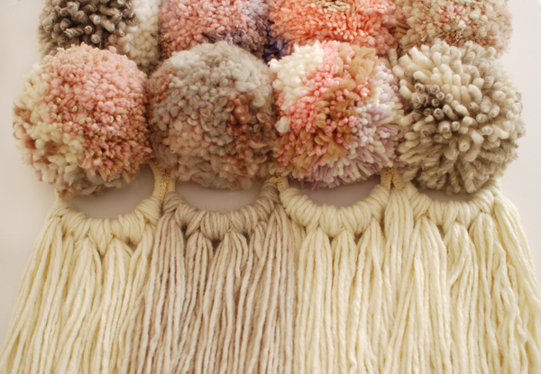 Pom Pom Wall Hanging tutorial: make a pom pom wall hanging - we are scout