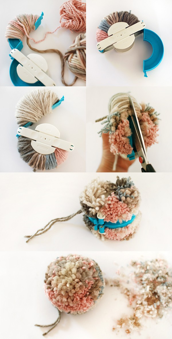 How to make a pom pom with a Clover pom pom maker - We Are Scout tutorial