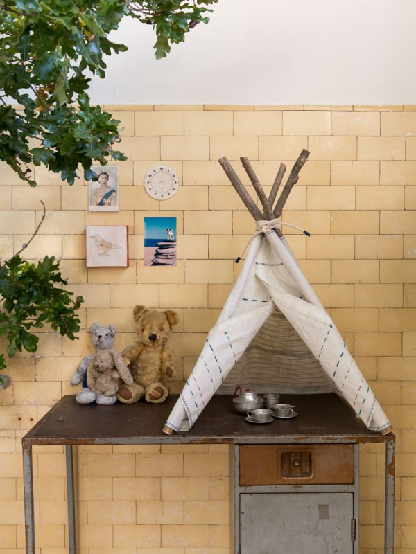 Mini sailcloth teepee by Skinny Wolf, via we-are-scout.com.