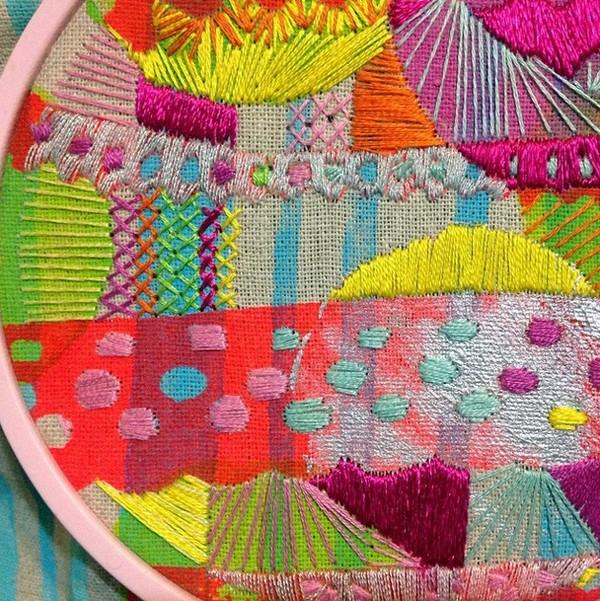 Megan Nicolson Artist - embroidered art - via we-are-scout.com