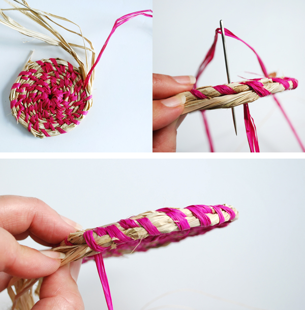 How to weave a basket with raffia : Tutorial make a coiled raffia basket we are scout
