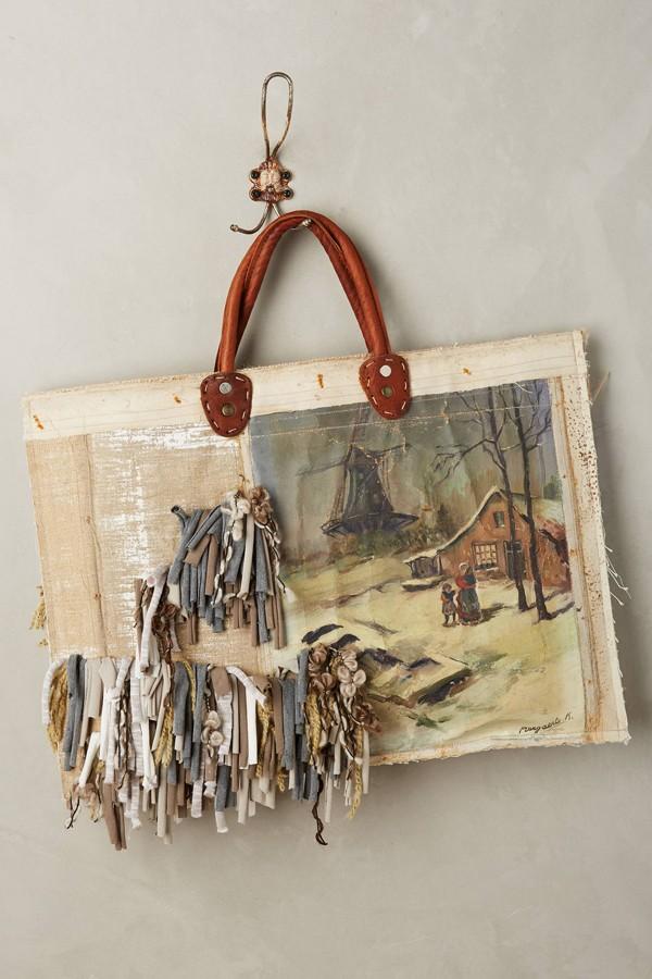 Leslie Oschmann one-of-a-kind Netherlands tote bag for Anthropologie