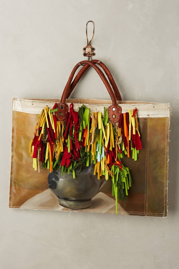 Leslie Oschmann one-of-a-kind Still Life tote bag for Anthropologie