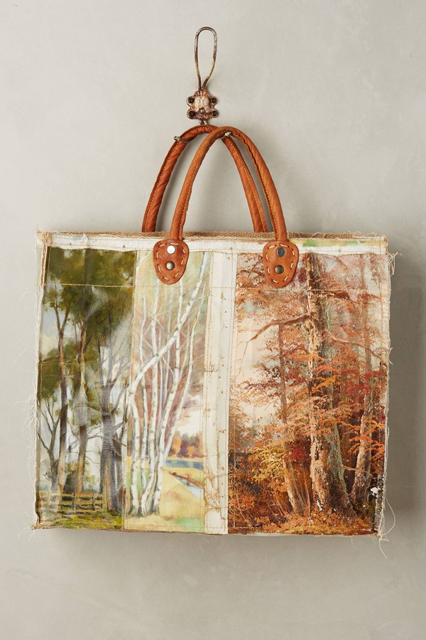 Leslie Oschmann one-of-a-kind Lakeview tote bag for Anthropologie