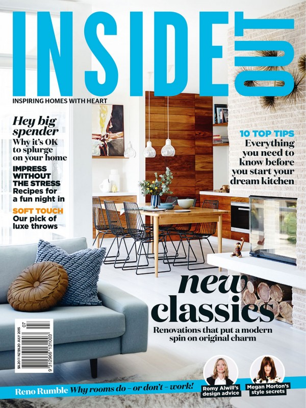July issue of Inside Out magazine. Cover styling by Tamara Maynes and Carly Spooner. Photography by Mark Roper.