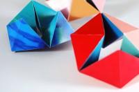 Free Printable: Make a folding paper Kaleidocycle