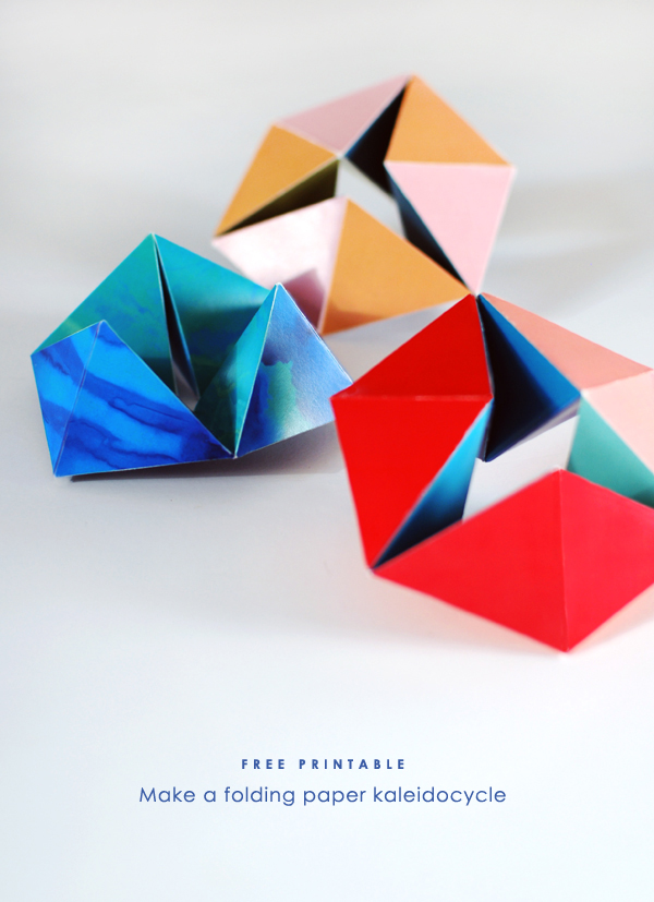 Free Printable Make A Folding Paper Kaleidocycle We Are Scout