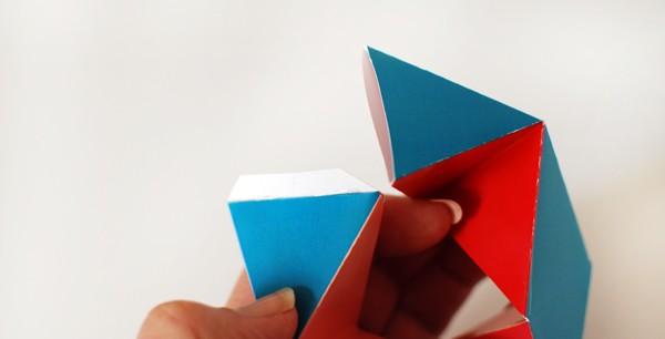 Free Printable: Make a folding paper Kaleidocycle -- via We Are Scout