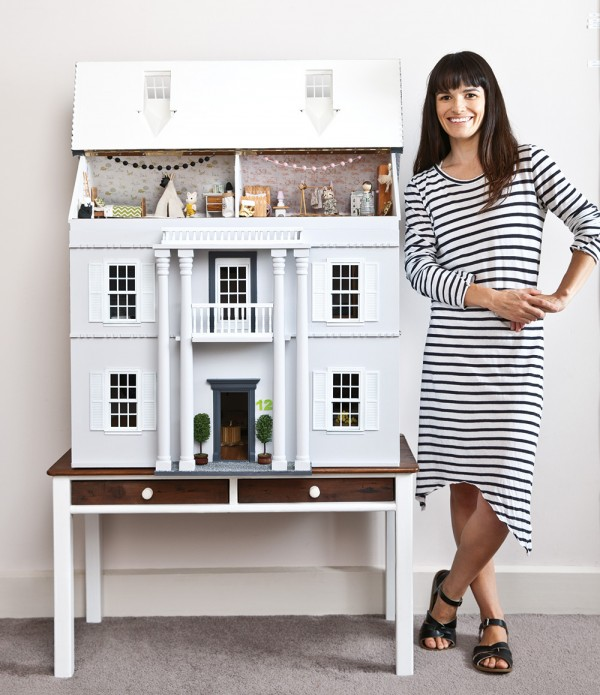 Little Linzi with her @little.linzi's amazing dollhouse renovation for her daughter. Photography by Sam McAdam-Cooper, as featured in the July 2015 issue of INSIDE OUT magazine.